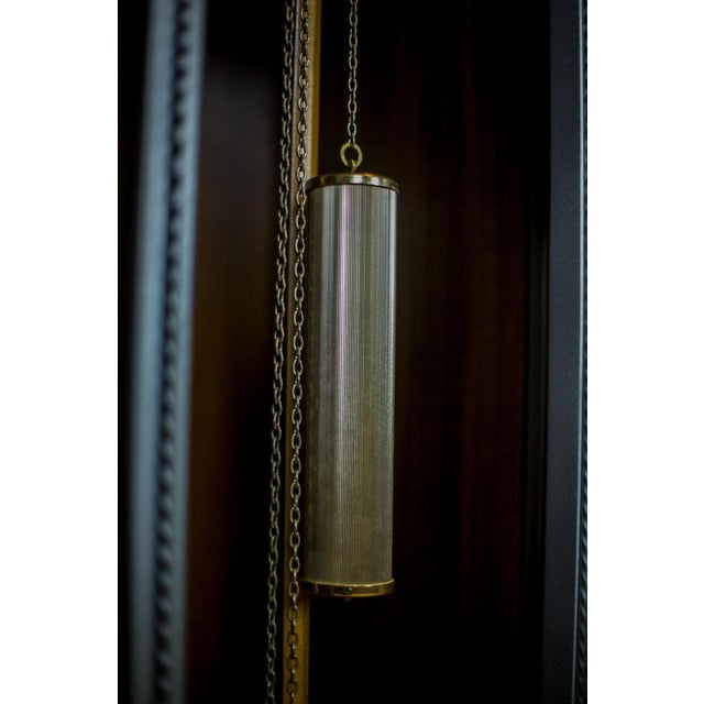 Contemporary 20th Century Tempus Fugit Grandfather Clock with a Chime For Sale - Image 3 of 13