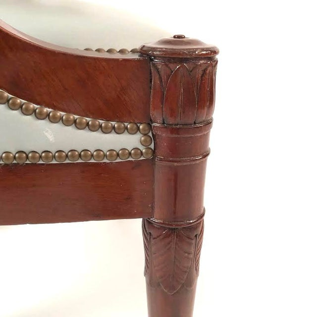 Early 19th Century 19th Century French Empire Period Mahogany Armchair For Sale - Image 5 of 12