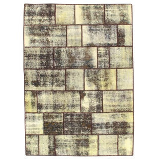 Pasargad N Y Patch-Work Decorative Hand-Knotted Area Rug - 5' X 7' For Sale