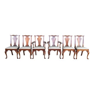 Statton Centennial Finish Cherry Chippendale Style Dining Chairs - Set of 6 For Sale
