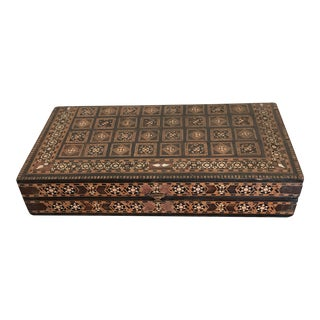 Moroccan Elaborately Inlaid Table Box For Sale