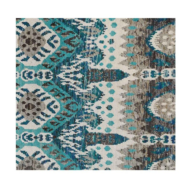 "1990s Ikat Area Rug - 8'0"" X 10'0"" For Sale - Image 4 of 6"