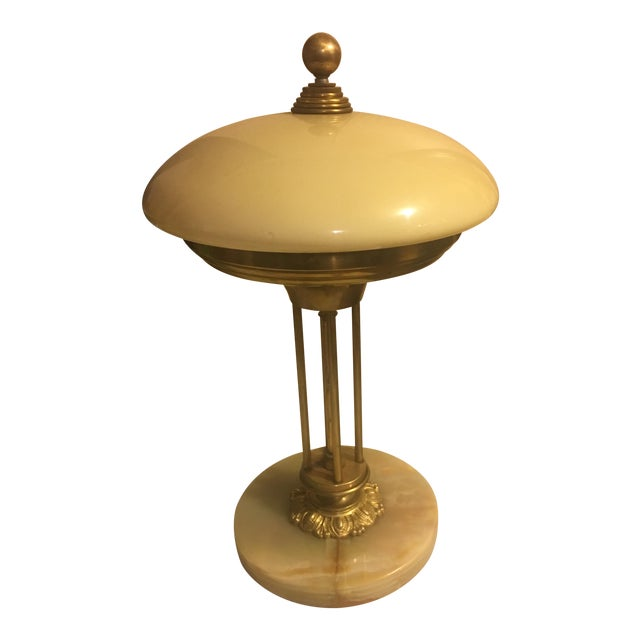Brass & Marble Table Lamp - Image 1 of 4
