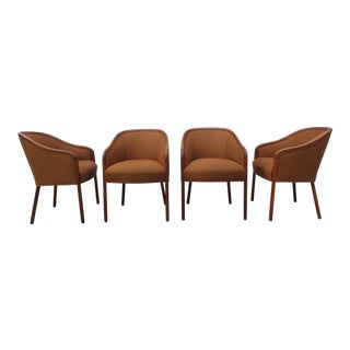 Late 20th Century Vintage Walter E. Smithe Barrel Back Chairs - Set of 4 For Sale