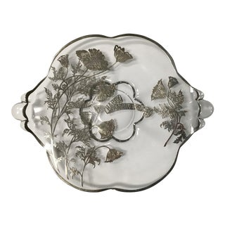 Contemporary Silver and Glass Anniversary Plate For Sale