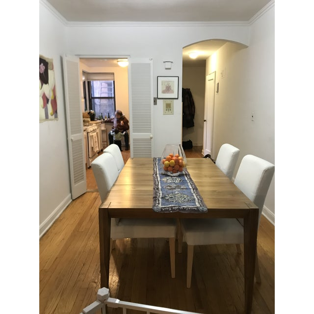 Modern West Elm Anderson Solid Wood Expandable Table