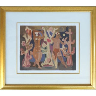 """Mujeres Y Corales"" '1945' Signed and Numbered Lithograph by Mario Carreño, 1989 For Sale"