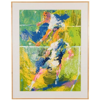 """Tennis Players"" Serigraph by Leroy Neiman For Sale"