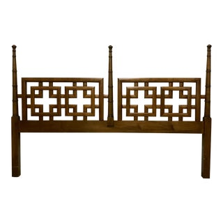 King Size Faux Bamboo and Fretwork Headboard