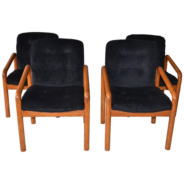1970s Oak Dining Chairs - Set of 4 - Image 1 of 5