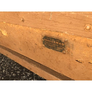 Vintage Wood Strongbox Steamer Trunk by Vanderman Mfg Co Preview