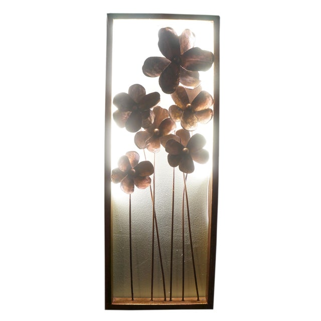 One of my Beautiful Artifacts of Modern Living creative lighting projects. The framed Brutalist metallic flowers create an...