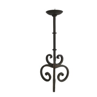 Vintage Rustic Cast Iron Candlestick / Candle Holder