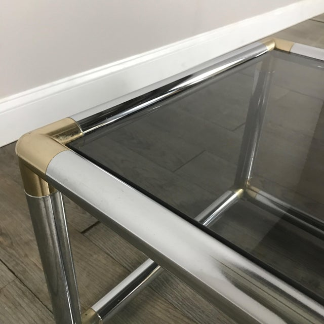 Mid-Century Modern Chrome Boxed End Tables Set - Image 8 of 11