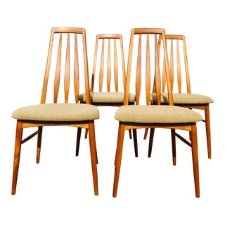 "Vintage Danish Mid-Century ""Eva"" Dining Chairs by Niels Koefoed- Set of 4 For Sale"