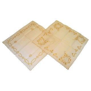 Handcrafted Italian Table Squares - A Pair For Sale
