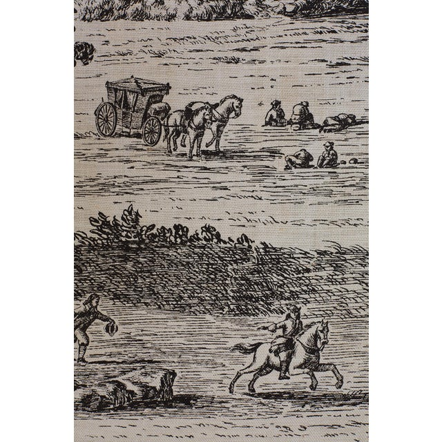 French Provincial Toile De Jouy Textile Panels For Sale - Image 9 of 13