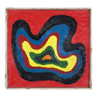 Fred Tasch Vintage Blobby Modernist Painting