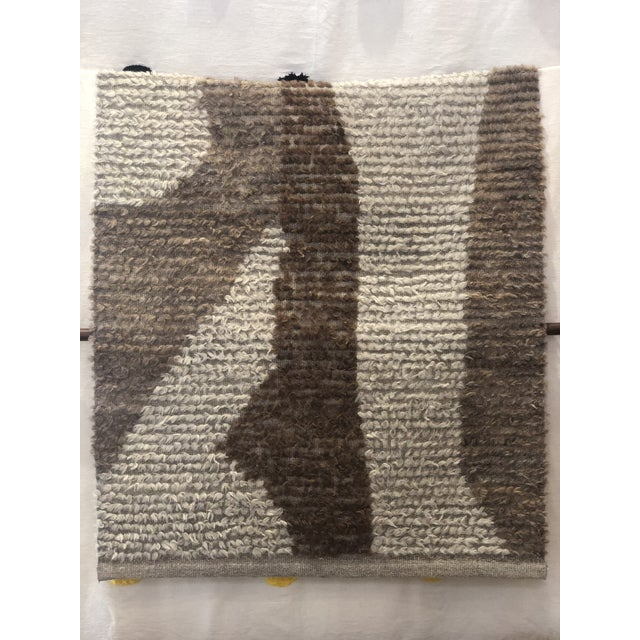 Boho Chic Turkish Wool Accent Rug - 2′12″ × 3′9″ For Sale - Image 3 of 3
