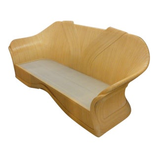 Curved Ribbon Rattan Sofa