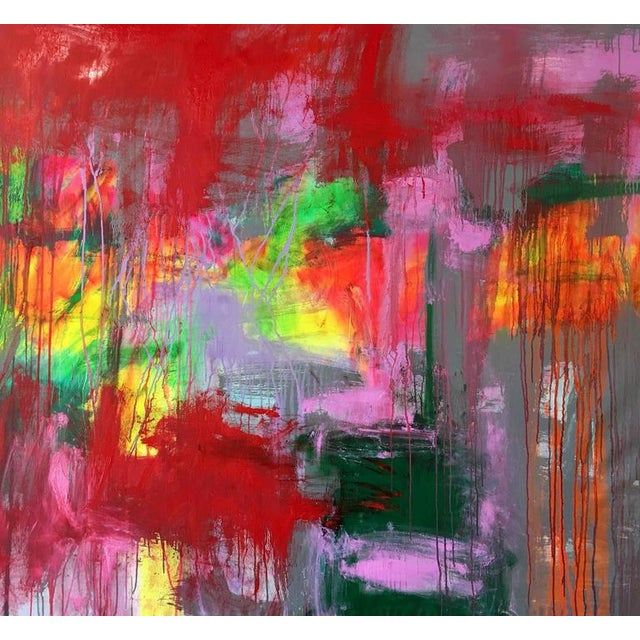 """Oil Paint Contemporary Abstract Oil Painting """"Obscura"""" by Mirtha Moreno For Sale - Image 7 of 8"""