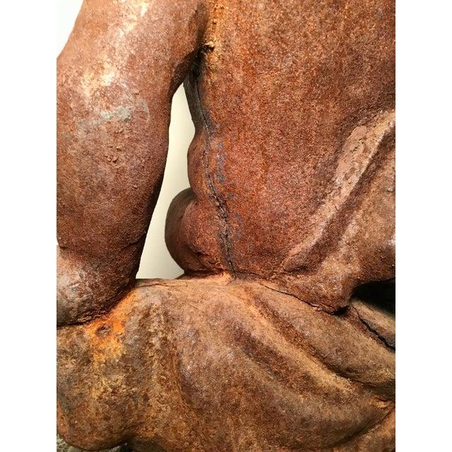 19th Century Victorian Cast Iron Cherub // Statue / Planter / For Sale - Image 11 of 13