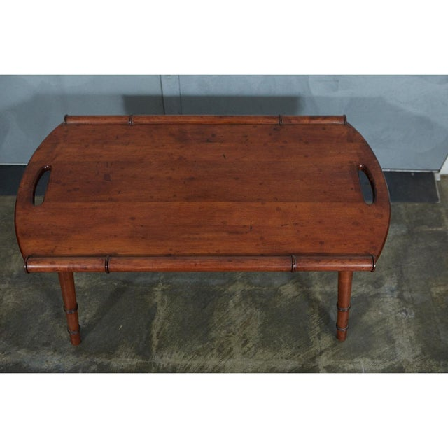 Mid 20th Century Mid-Century Faux Bamboo Coffee Table For Sale - Image 5 of 6