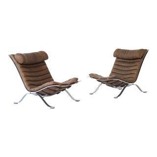 Pair of Arne Norell Ari Chairs, Norell Mobler, Sweden, 1970s For Sale