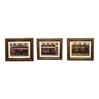 Framed French Bistro Art - Set of 3 For Sale