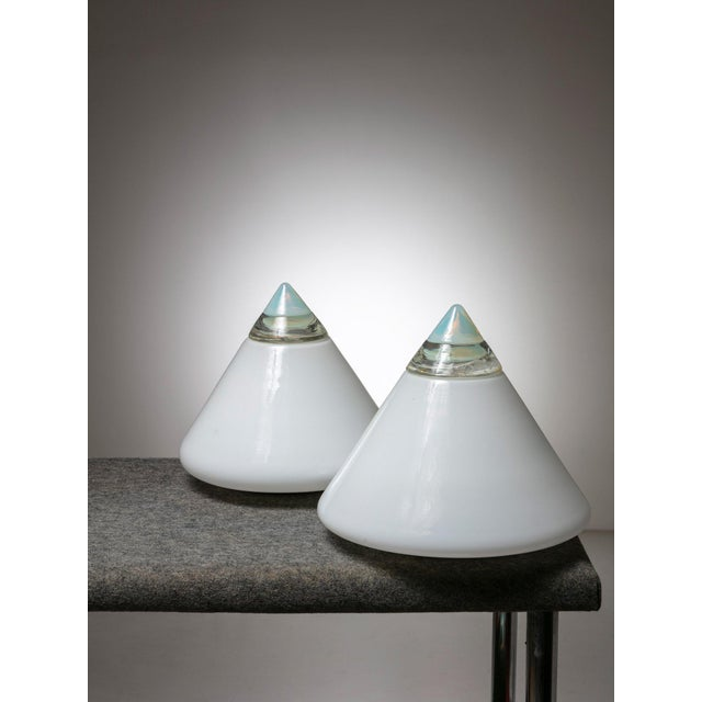 """Modern Pair of """"Rio"""" Table Lamps by Giusto Toso for Leucos For Sale - Image 3 of 6"""