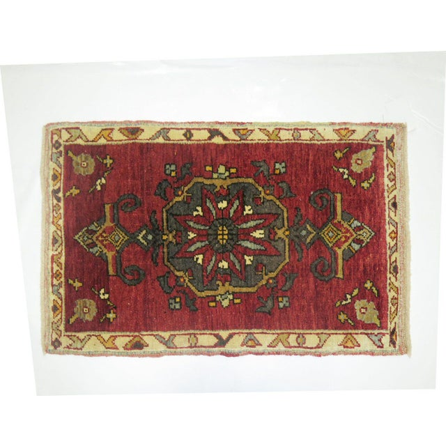 One of a kind Vintage Turkish Rug, Professionally Cleaned for everyday use, circa mid 20th century