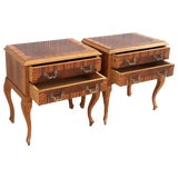 Image of 20th Century Pair of Mid-Century Modern Nightstands With Two Drawers, Italy For Sale