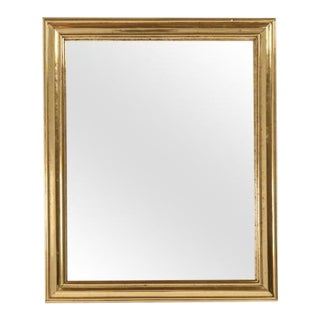 French Brass Framed Bistro Mirror For Sale