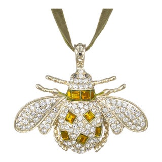 Classic Bee Hanging Ornament, Amber For Sale