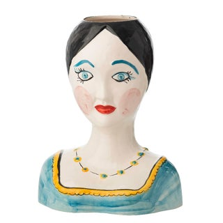 Evangeline Painted Head Vase For Sale