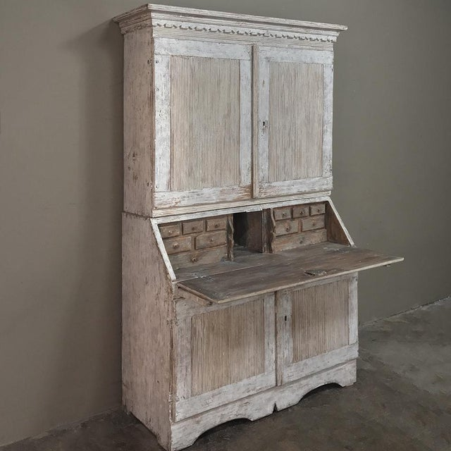 19th Century Swedish Painted Secretary For Sale - Image 4 of 13
