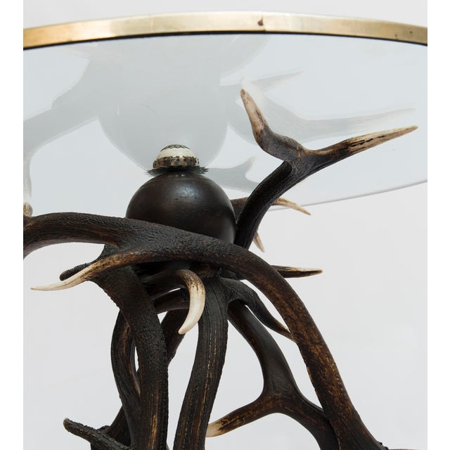 19th Century Lodge Antler Based Side Table For Sale - Image 12 of 13