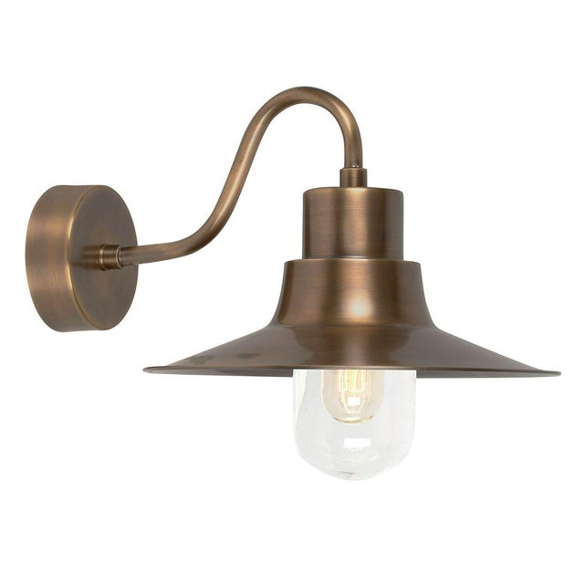 Mid-Century Modern Sheldon Brass Wall Lantern For Sale - Image 3 of 3