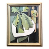 Image of Original Contemporary Stewart Ross Modernist Still Life Painting Framed For Sale
