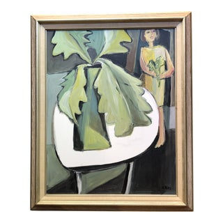 Original Contemporary Stewart Ross Modernist Still Life Painting Framed For Sale
