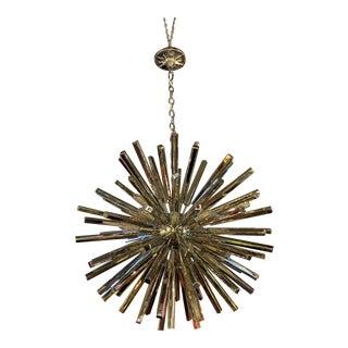 Lawrence Medium Sputnik Chandelier in Polished Nickel by E.F. Chapman For Sale