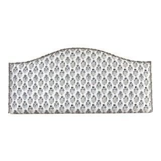 Petite Floral Patterned Upholstered Headboard For Sale