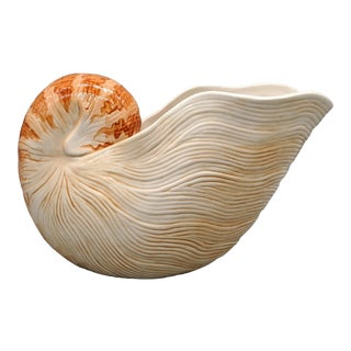 Fitz and Floyd Nautilus Wine Caddy/Planter For Sale