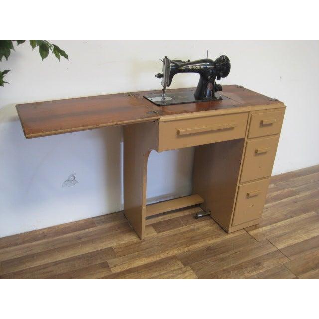 Vintage Singer Sewing Table - Image 8 of 11