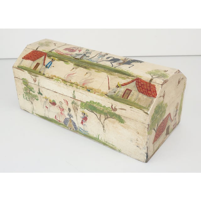 This charming tabletop wood box is the work of self taught Mexican artist Salvador Corona who stared his career after...