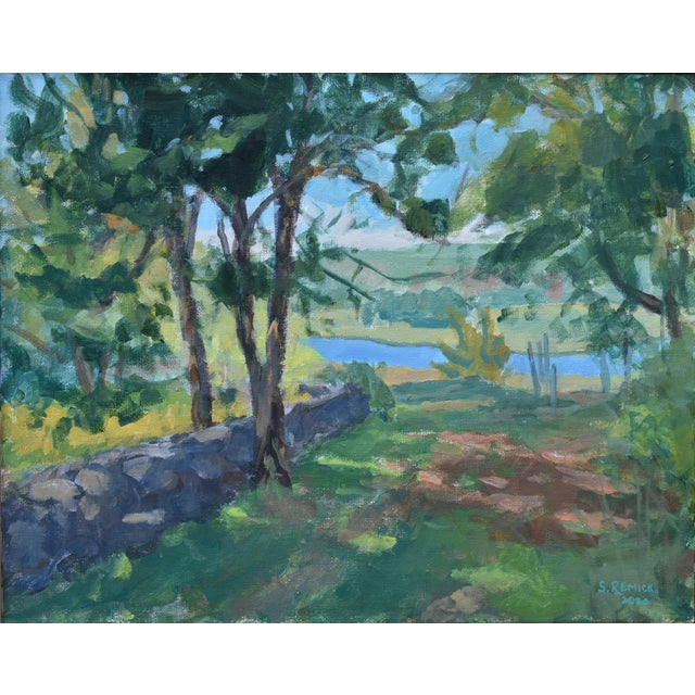 Painted en plein air in 2020 at the site of a nature reserve in Massachusetts. (The Trustees of Reservations' Westport...