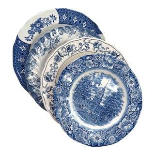 Mismatched Ironstone China Dinner Plates - Set of 4