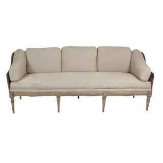 Circa 1780 Gustavian Painted Sofa For Sale