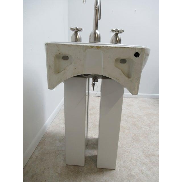White Michael Graves Design Duravit Dornbracht Dreamscape Pedestal Bathroom Sink For Sale - Image 8 of 13