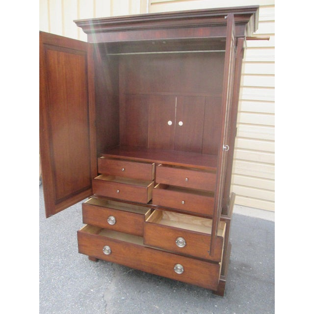 Traditional Ethan Allen Newport Clothing Armoire For Sale - Image 3 of 3
